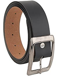 VARIETY Men's Leather Belt (Black, Free Size)