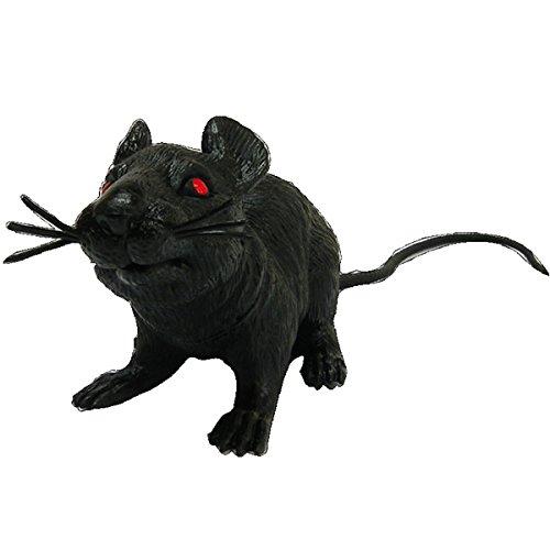 ECYC® Kunststoff Ratte Spielzeug Maus Modell für Party Supplies Scary Halloween Dekoration, schwarz