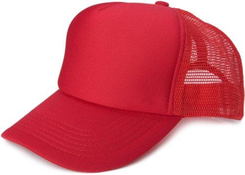 styleBREAKER 5 Panel Mesh Cap 04023007 (Rot) Retro Snapback Hats