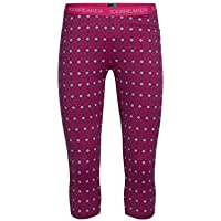 Icebreaker Mujeres Oasis Legless Align Base Layer–Pop Pink/Snow/Pop pequeña, Color Rosa