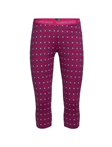 Icebreaker Damen Oasis Legless Align Funktionshose, Pop Pink/Snow, S