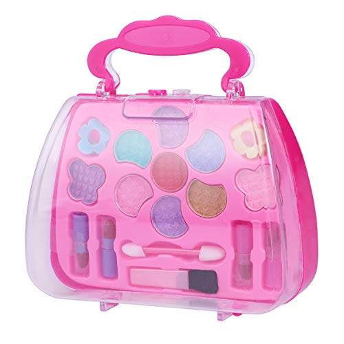 ec94b0f15 TOYMYTOY Caja de maquillaje Princess Pretend Traveling Makeup Kids Beauty  Salon Cosmetic.