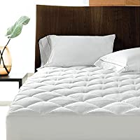 Linens Limited Polycotton Quilted Mattress Protector, Extra Deep, Double