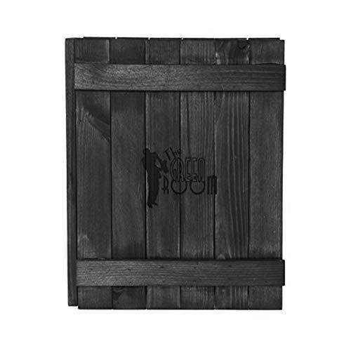 Canterbury Menüdeckel, Holz, Schwarz lackiert, passend für A5 Menüs - graviert, personalisierbar mit Ihrem Text (Menü-ordner Für Restaurants)