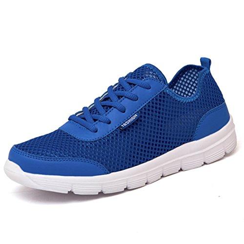 Men's Mesh Lace Up Breathable Casual Shoes blue