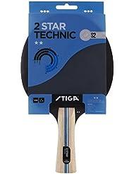 Stiga 2-Star Technic, Concave Racchetta da Ping Pong, Nero/Rosso, Taglia Unica