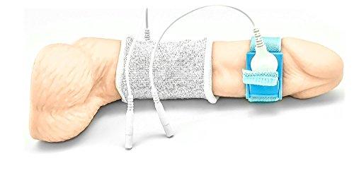 STRUMPF ESTIM Schlaufe by DR. ELECTRO, Überzieher für Penis oder Hoden, inklusive Penis-Hodenschlaufe, für Elektrostimulation im Set, mit Adapterkabel