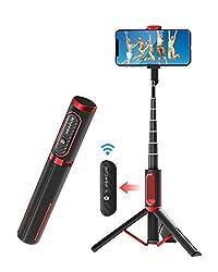 Bluetooth Selfie Stick Stativ, BlitzWolf Aluminium All-in-one Monopod Wireless Selfie-Stange Stab mit Bluetooth Fernbedienung für iPhone 11/11 Pro/11 Pro Max/XS/XS Max/XR/X/8, Galaxy S10/9/8/7, Huawei
