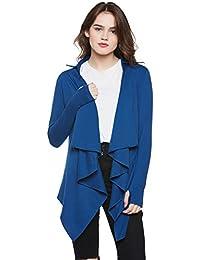 301b7c2b735 ... Capes   3XL. Hypernation Royal Blue Color Cotton Waterfall Shrug For  Women