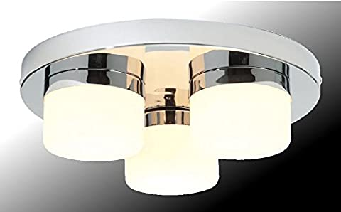 Marco Tielle 3 Light Bathroom Ceiling Light In Chrome Finish