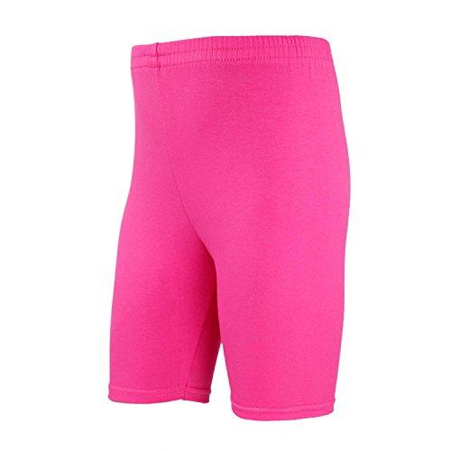 TupTam Mädchen Leggings Kurz Radlerhose Baumwolle, Farbe: Pink, Größe: 140