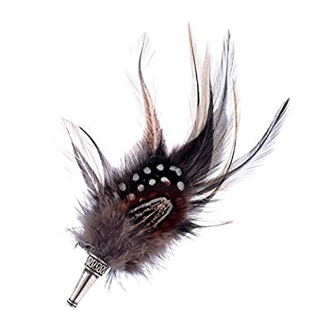 lureme® Native American bohémien Bijoux Faisan Plume Brooch Pin for Women Men Clothing Accessories(br000004-1)