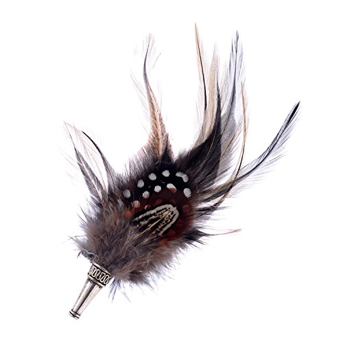 LUREME Native American Bohemien Schmuck Fasan Feder Brooch Pin for Women Men Clothing Accessories(br000004-1)