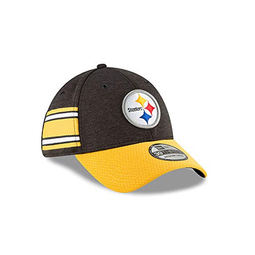 3759775cb A NEW ERA Era NFL Pittsburgh Steelers Authentic 2018 Sideline 39THIRTY  Stretch Fit Home Cap