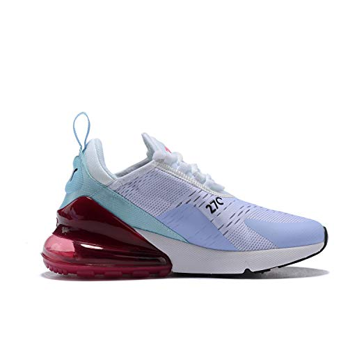 Hojert Air Max 270 Chaussures de Running Compétition Femme Homme Sneakers (36 EU, Violet/Bleu/Rose Rouge (5))
