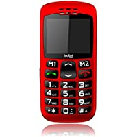 """Facitel FS07 - Teléfono móvil DE 2.2"""", Color Rojo"""