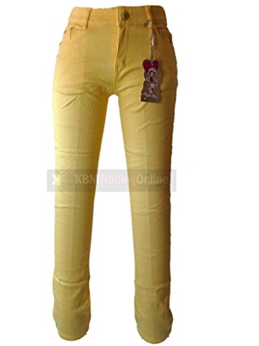 Price comparison product image ONLY £14.99 Girls Teens Bright Colour Pop Stretch Skinny Jeans Red Pink Blue Yellow 4-14yrs (3-4,  yellow)