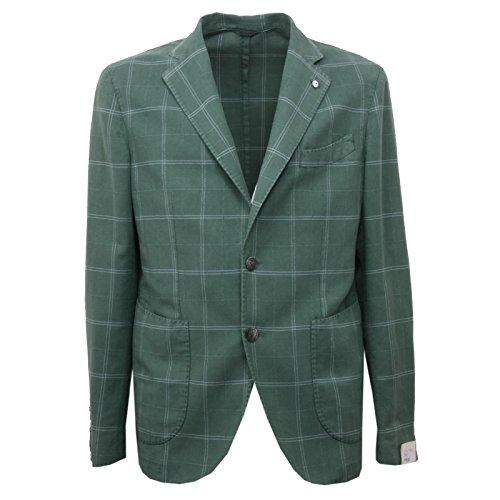 B4354 giacca uomo L.B.M. 1911 giacche verde overall lino cotone jacket man [52]