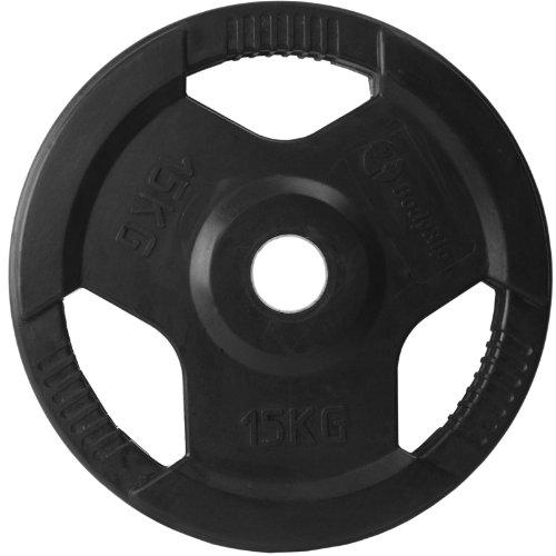 BodyRip - Disco in gomma a tripla presa da 15 kg...