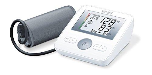 Sanitas SBM 18 Oberarm-Blutdruckmessgerät, Manschettensitzkontrolle, farbige Einstufung der Messergebnisse (Blutdruck Armmanschette Automatische)