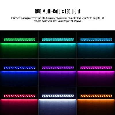 DADYPET Aquarium LED Beleuchtung, Aquariumbeleuchtung Lampe Tageslichtsimulation Aquarium Lampe für Süßwasser Meerwasser für 33-61cm Aquarium