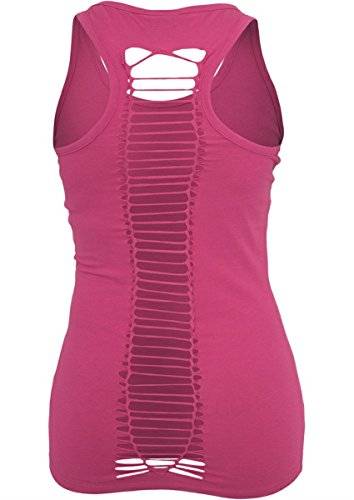 Urban Classics Ladies Cutted Back Top Fuchsia hummer