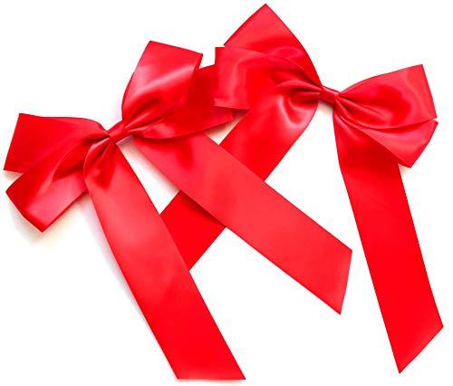 CaPiSo Handarbeit Satinschleife 20 x 30 cm, 2 Stück, Rot