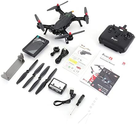Funnyrunstore MJX Bugs 6 B6FD 2.4 GHz 4CH 6 Axe Gyro RTF Drone avec HD 720P 5.8G FPV Caméra Et 4.3