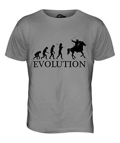 CandyMix Berittenes Bogenschießen Evolution Des Menschen Herren T Shirt  Hellgrau