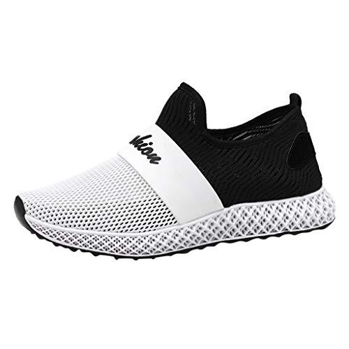 Xmiral Scarpe da Uomo Casuale Traspirante Slip Sneaker in Mesh Intrecciato Traspirante Leggero e Traspirante 39 EU Grigio
