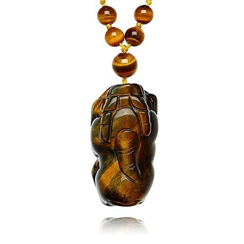 Naturale Golden Tiger eye pietra tigre occhio pietra pendente/ Ciondolo di cristallo per gli uomini e le donne/