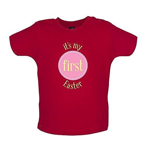 My First Easter - Girl - T-shirt bébé - Rouge - 6 à 12 mois