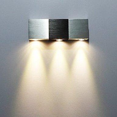3W Moderne LED-Wandleuchte mit Streulicht rechteckig Aluminium Körper von Licht 518 - Lampenhans.de