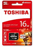 Toshiba EXCERIA M301 Micro SDHC 16 GB UHS-I (U1 - up to 48MB/s read) Flash Memory Card