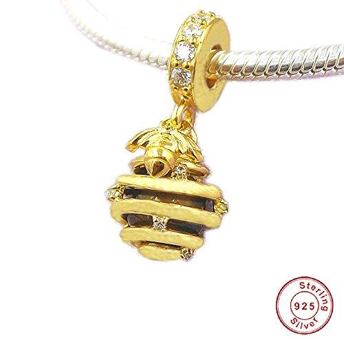 Cooltaste europäischen 2018Spring Sweet as Honey Charm Tiger Eye 925Silber Bead DIY passt für Original Pandora Charm-Armbänder Fashion Jewelry (Authentic 2 Eye Original Der)