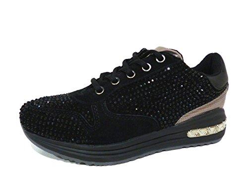 Sneaker donna Cafè Noir DA601 nero (38)