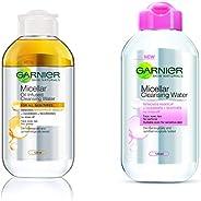 Garnier Skin Naturals, Micellar Oil-Infused Cleansing Water, 125ml And Garnier Skin Naturals, Micellar Cleansi