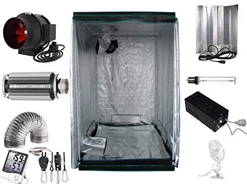 Generic Growbox Komplettset 600 W NDL Eco 120x120x200 cm AKF 500m³/h(600 Watt mit AKF)