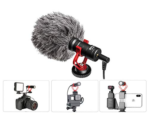 Tineer Osmo Action Microphone,YouTube Vlogging Facebook Livestream Videoregistrazione Mini Mic - con cavo audio da 3,5 mm per DJI Osmo Action/Osmo Pocket/iOS Smartphone Huawei e fotocamere DSLR