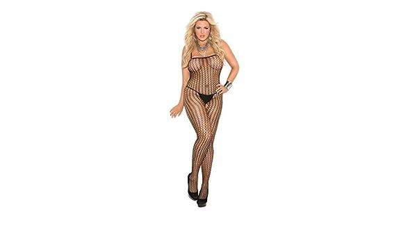 6f267745a21 Crochet Bodystocking Plus Size by Elegant Moments  Amazon.co.uk  Clothing