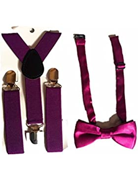 Tirantes Pajaritas para Ninos o Ninas,AZX,Tirantes ajustables elasticos de espalda,Clip Y Espalda Elástico Ajustable