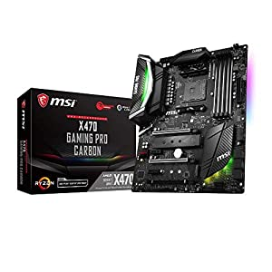 MSI X470 GAMING PRO CARBON ATX Motherboard for AMD Socket AM4 Processors