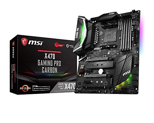 MSI X470 GAMING PRO CARBON, AM4, 4 Dimm DDR4-3466MHz+(OC), 2x M.2 Shild FROZR, Intel Gaming LAN, PCI-E Steel Armor, X-Boost, ATX