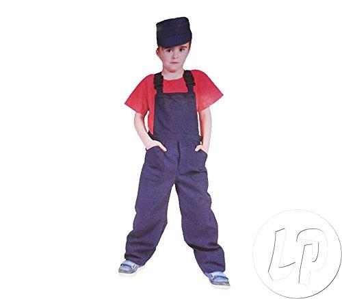 o orange Kind Größe 116 Kinderkostüm Jungen Mädchen Bauarbeiter Handwerker Gärtner Clown Karneval Fasching Pierro's ()