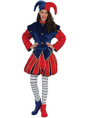 Kostüm Waldelfe, Weihnachten, Wichtel, bleu-rouge, DE LUXE (Lutin Du Pere Noel Kostüm)
