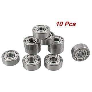 10 Stück 4 mm x 13 mm x 5 mm 6001Z Abschirmung tiefes Kugellager mit Einzelkugeln