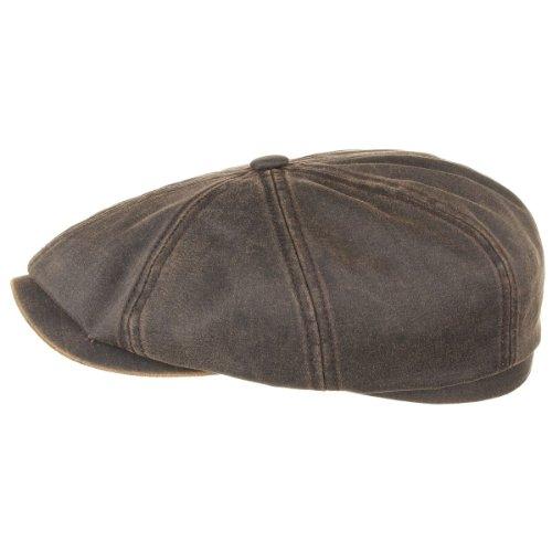 hatteras-old-cotton-casquette-stetson-casquette-forme-arrondie-newsboy-cap-l-58-59-marron