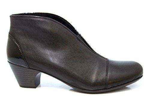 Rieker Toulouse Womens Schwarze Leder-Stiefeletten Schwarz/patent