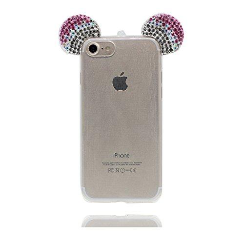 iPhone 6s Plus Custodia, iPhone 6 Plus Copertura Premium TPU Prezzo basso trasparente al silicone in iPhone 6S Plus case [Slim-Fit] [assorbimento di scossa]- conghiglia stelle # 2