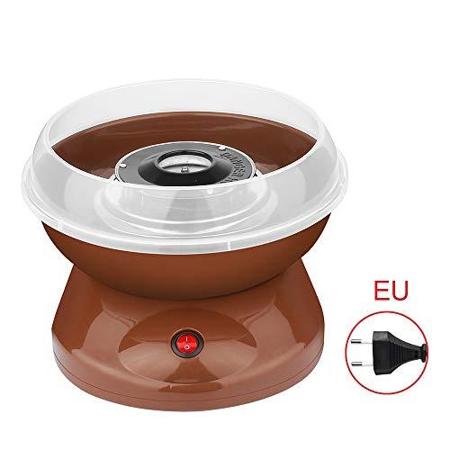 1PC Cotton Candy Machine und elektrischer Mini-elektrischer DIY Candy Floss Maker macht Hard Candy für Kinder Geschenk Familie EU Plug braun